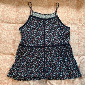 American Eagle Outfitters Tops - American Eagle Navy Blue Floral Tank